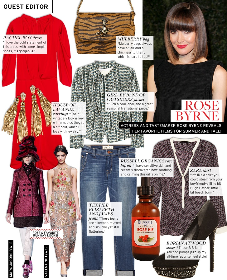 Guest Editor: Rose Byrne - Celebrity Style and Fashion from WhoWhatWear: Celebrity Style, Celebrities Style, Fall, Byrne Shared, Byrne Guest, July Guest, Whowhatwear, Rose Byrne, Guest Editor
