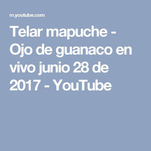 Telar mapuche - Ojo de guanaco en vivo junio 28 de 2017 - YouTube