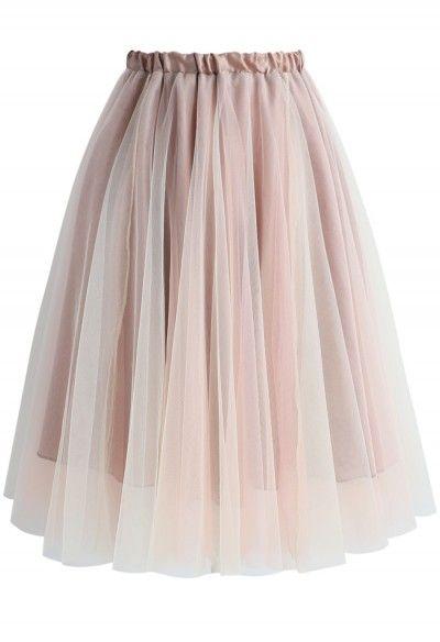 fb6c17179 Falda de Tul y Malla en Color Marrón | Cosas que ponerse | Faldas de ...