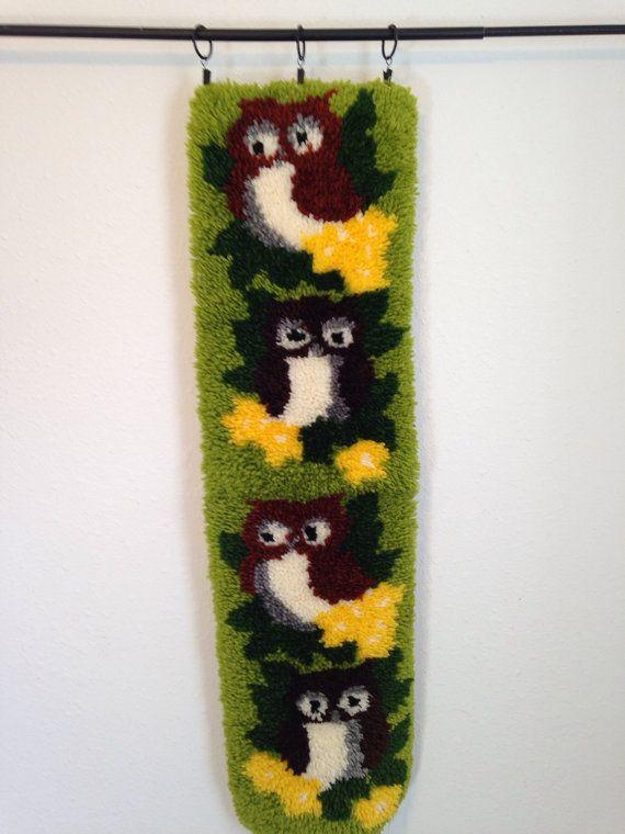 Vintage Latch Hook Owl Latch Hook Vintage by YourAuntiesPanties