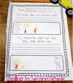 Write a letter to their parents on the first day of school- could do this at the end of the day!