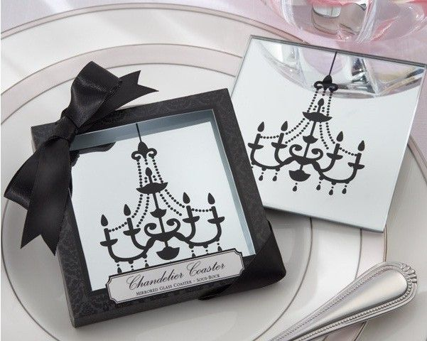 Look Carefully At Kate Aspens Charming Chandelier Mirrored Glass Coasters And You Find This Pin More On Wedding Favours