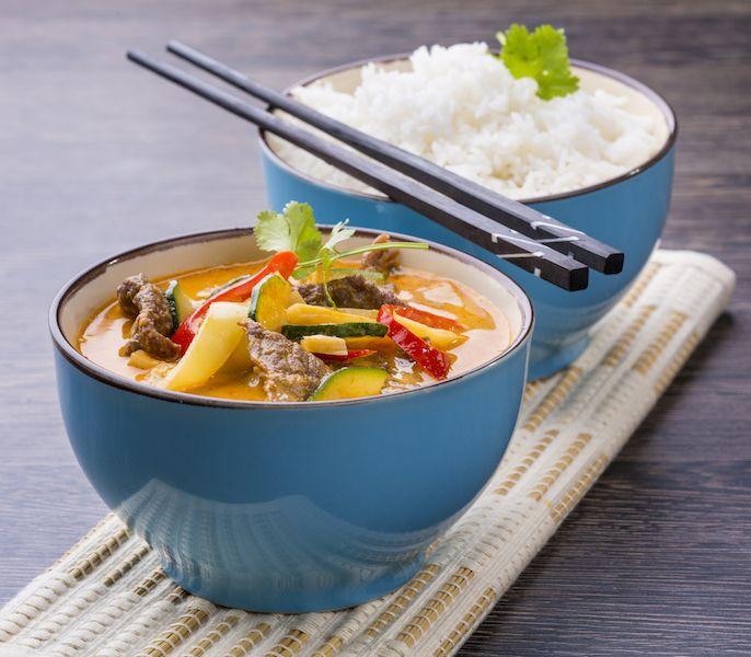 Phaneng Nua // thai phaneng curry, cukkini, kókusztej, citromfű, rizs, marha