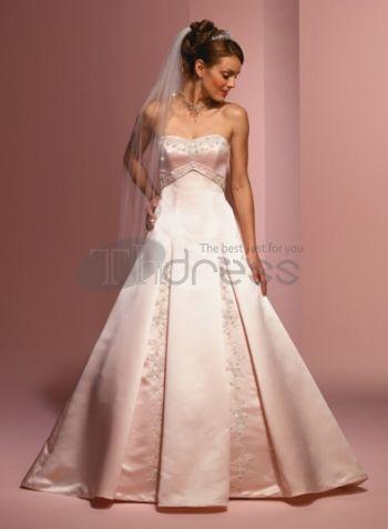 Abiti da Sposa Colorati-Senza spalline una linea rosa abiti da sposa colorati