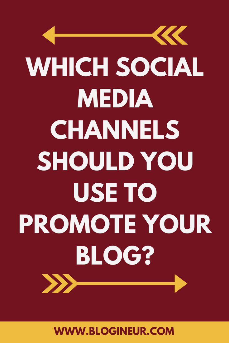 There are so many social media channels to choose form, but which one should you use to promote your blog? Check out this post on which social media will fit your type of blog. #socialmedia #blogging #blog #bloggers #socialmediamarketing