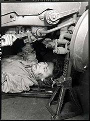 Queen Elizabeth World War II Mechanic--not in color but too cool not to pin