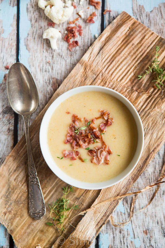 Bloemkool soep met bacon | simoneskitchen.nl