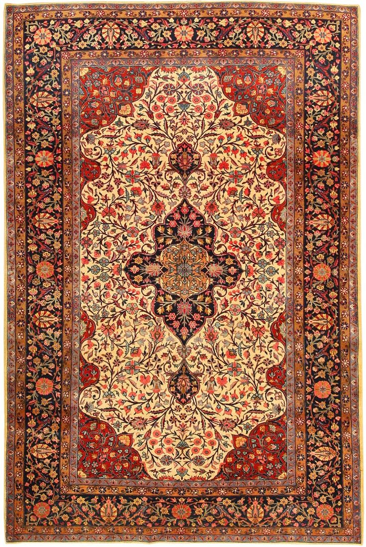Antique Kashan Persian Rug 43262 Detail Large View By