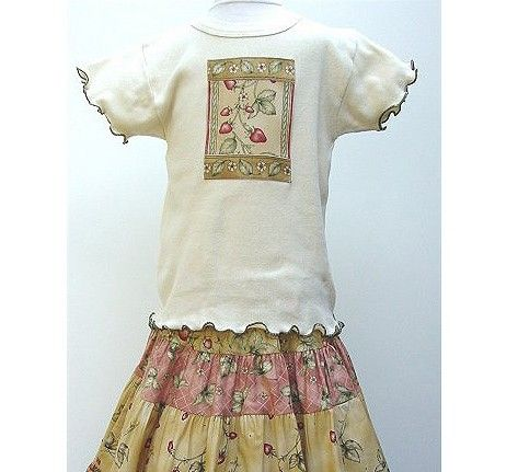 a cute little girls dress with #strawberry #vines. Love. by @berrypatchUSA
