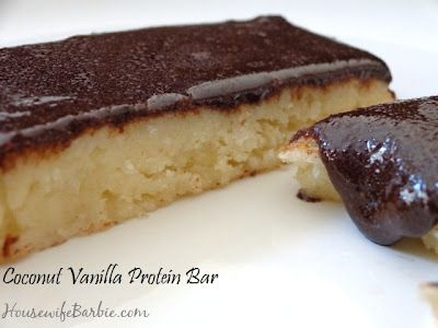 An American Housewife: Coconut Vanilla Protein Bar - (low carb, sugar free)