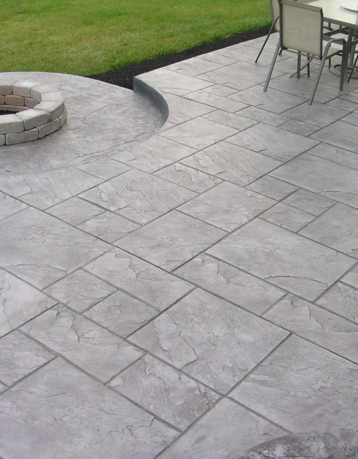 Stamped Concrete Patio Ideas To Bring Your Patio Backyard Or Frontyard More Welcoming S Concrete Backyard Stamped Concrete Patio Designs Concrete Patio Designs
