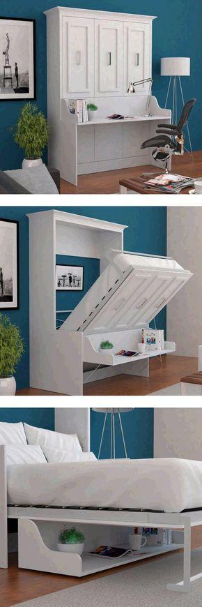 Die besten 25+ Murphy Betten Ideen auf Pinterest Diy klappbett - schlafzimmer f r kleine r ume