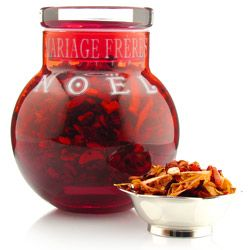 TFBF921 :  NOËL® - FRUIT TEA  Red glass bool