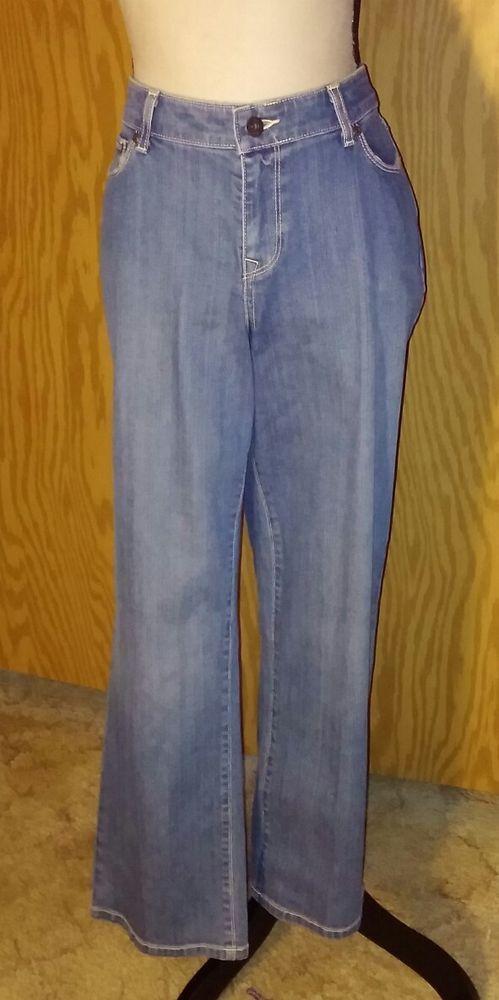 LL Bean Favorite Fit Curvy Denim Blue Jean 10 Petite Medium Wash Cotton Spandex #LLBean #CurvyFavorite