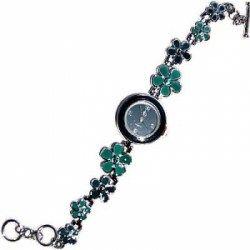 #Prezzi   ed #Offerte   #Online   #Orologio   #Crystal   #Blue   : particolare orologio della Crystal Blue. Il #bracciale   è #caratterizzato   da #fiori   #verdi   #piccoli   e #grandi   .
