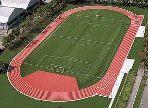 Bird Eye View Small Stadium Running Stock Photo 60796831 ...  |Running Track Birds Eye View