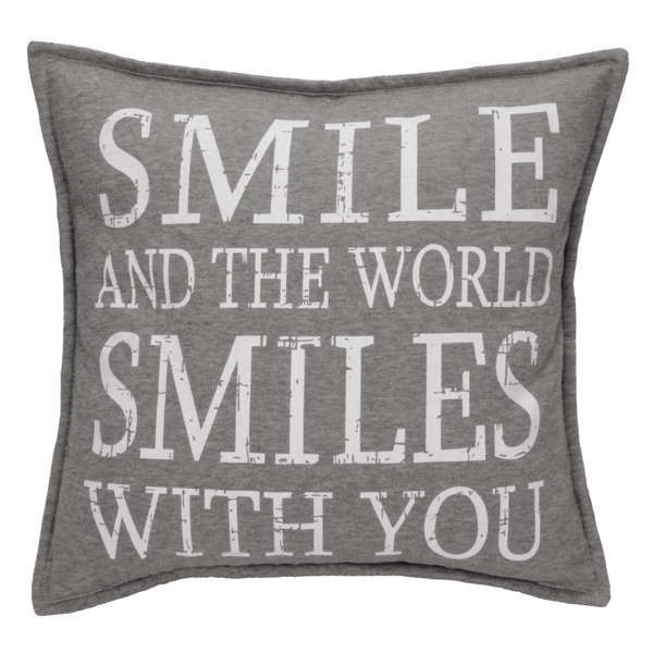 Coussin SMILE AND... gris