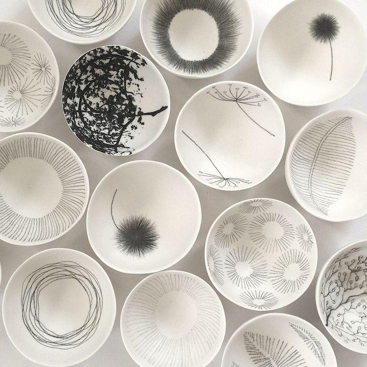 Pilar Rojas. Porcelain bowls.