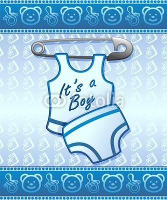 ❀NEW!❀ #Baby #Shower it's a #Boy-#Annuncio #Nascita #Maschio #Bambino © bluedarkat #48606479 - http://it.fotolia.com/id/48606479/partner/200929677