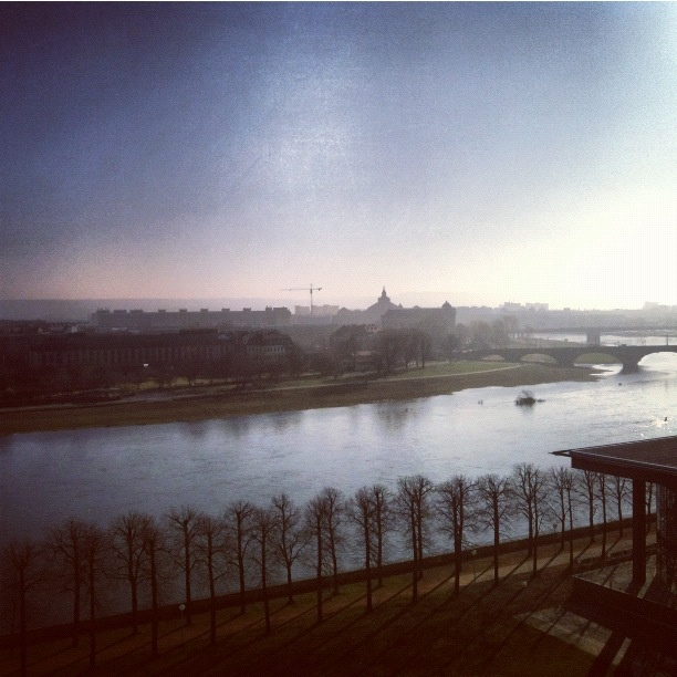 Dusk over Dresden - shot from the Maritim Hotel