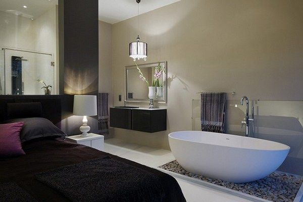 There are some ideas that you can decorate your Bath in Bedroom. With bath in your bedroom design ideas can be new and unique. For open-minded people, perhaps the idea of a bath with transparent gl…