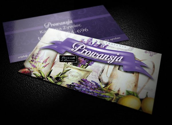 Flyer & bussines card for PROWANSJA on Behance