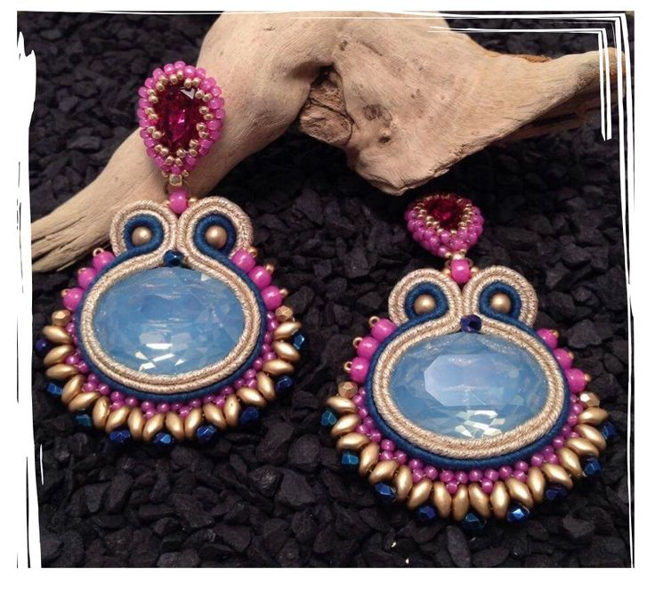 "Orecchini in soutache ""Incas"""