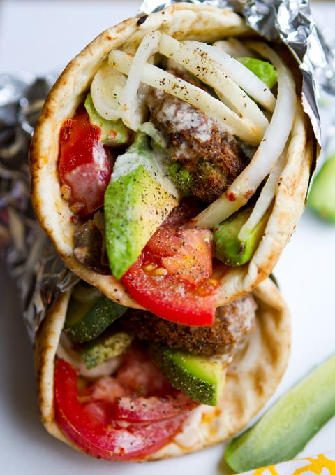 Food Truck Eats at Home - Veggie Gyros! via the Family Kitchen >> Make sure to click the photo and scroll down a bit to view the recipe.