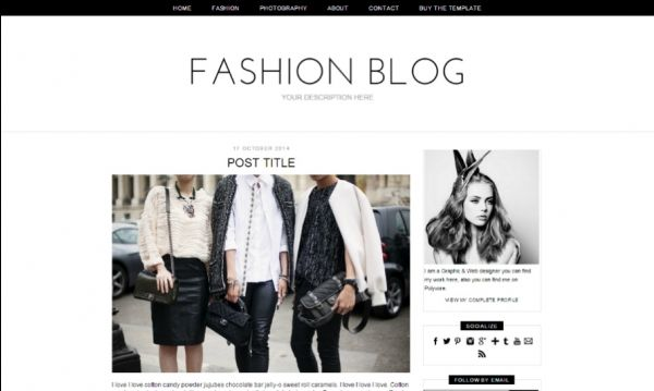 Fashion Blog Blogger Template Mobile Responsive Minimal