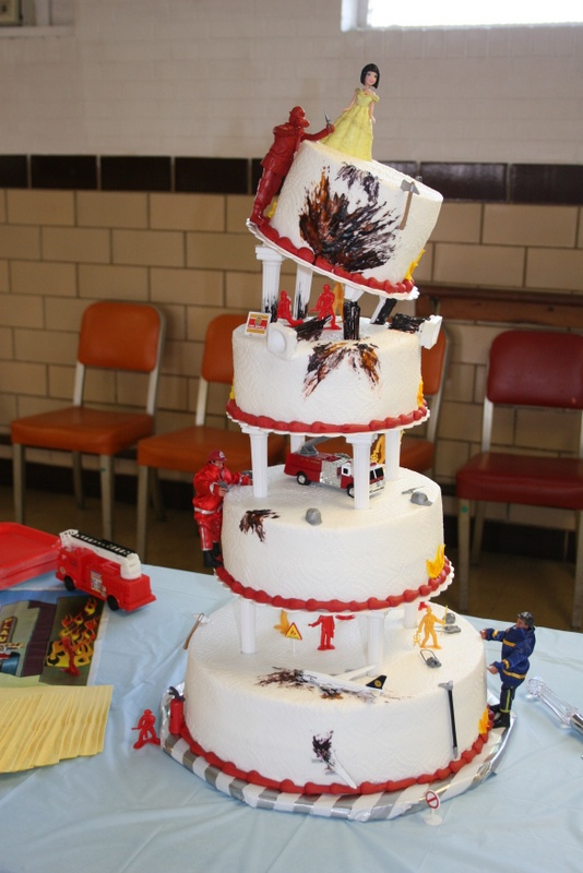 Awesome firefighter wedding cake....probably the coolest cake I have ever seen