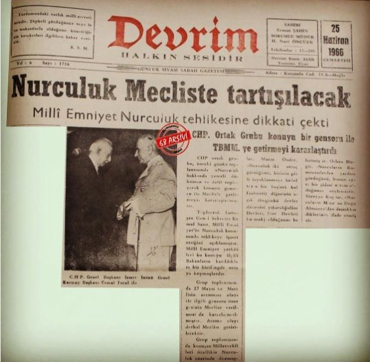 İsmet Paşa FETÖ'yü 50 yıl önce keşfetmiş