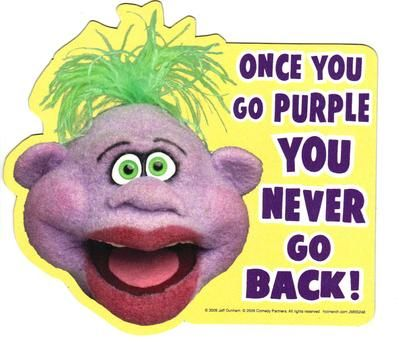 Jeff Dunham Peanut Once You Go Purple Car Locker Frig Magnet