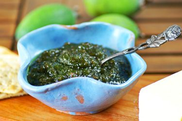 Five-minute feijoa jam