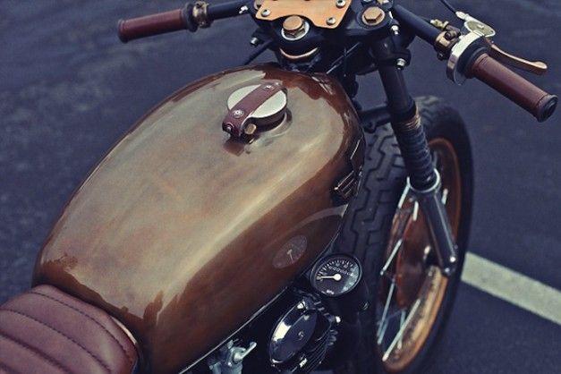 CHAPPELL CUSTOMS – '72 CB350 HONDA #chappellcustoms #1972 #cb350 #honda #garage #design #bike #mecanics #motor #steampunk #victorian #copper #custom