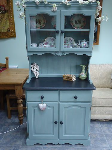 Shabby Chic Solid Pine Welsh Dresser for the Kitchen or Dining Room | eBay