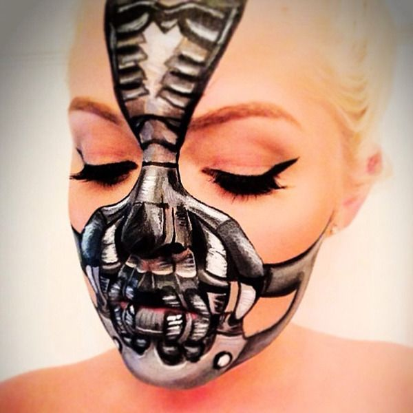 Bane Makeup ♥ 25 Halloween Looks: The Best Of 2013 | Beautylish