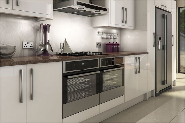 A livorna white high gloss kitchen design idea http www for Kitchen designs high gloss
