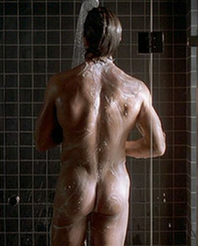 Hey Bateman, where did you go? Um, I see you're in the shower, I'll be waiting for you in bed. (omg, he has the body of a Greek God)