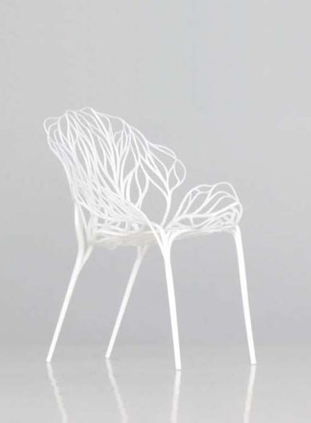 Vegetal: by Ronan and Erwan Bouroullec / chair / white #chair #chaise #design Retrouvez l'équivalent chez nous : http://www.coffeemeuble.com/index.php/crystal-chaise-terrasse.html