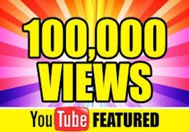 give you guaranted 100000+++ real Human youtube vi... for $28