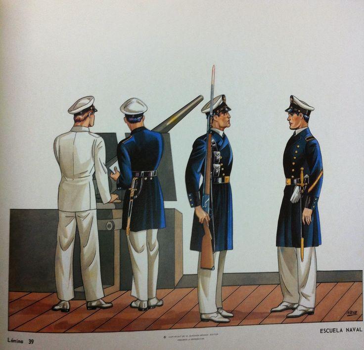 Uniformes de la Heroica Escuela Naval Militar de México / Uniforms of the Heroic Military Naval School of Mexico