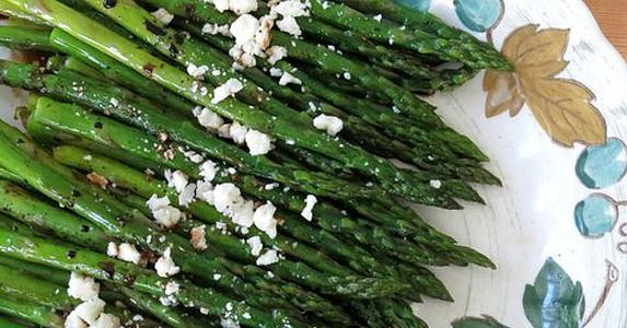 Savory Sight: Roasted Asparagus With Balsamic Reduction and Feta