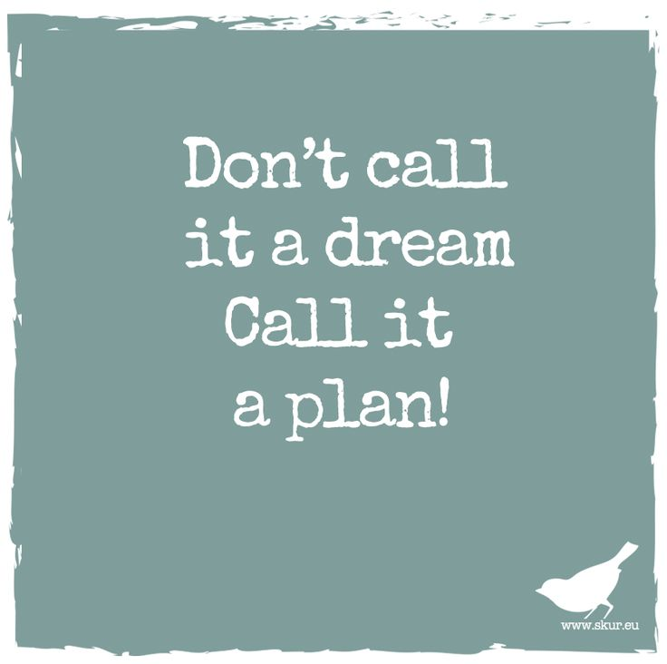 Don't call it a dream. Call it a plan. #skurquote #skur #quote #plan #dream #kids