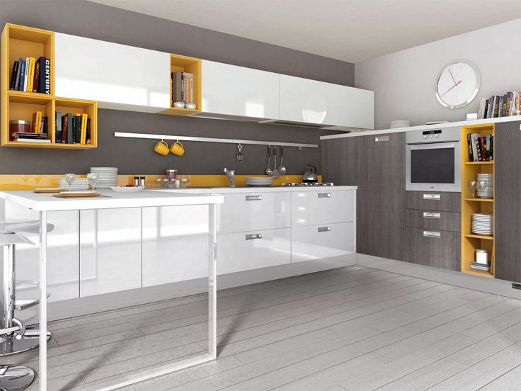 Yellow and gray is all the rage these days! Would you incorporate it in your kitchen?