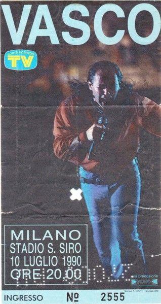 SCRIVOQUANDOVOGLIO: VASCO ROSSI A MILANO (10/07/1990)