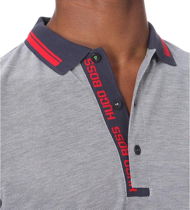 HUGO BOSS - Branded cotton-jersey polo shirt | Selfridges.com