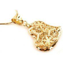 Zlatý přívěsek srdíčko s kvítky IZ5563