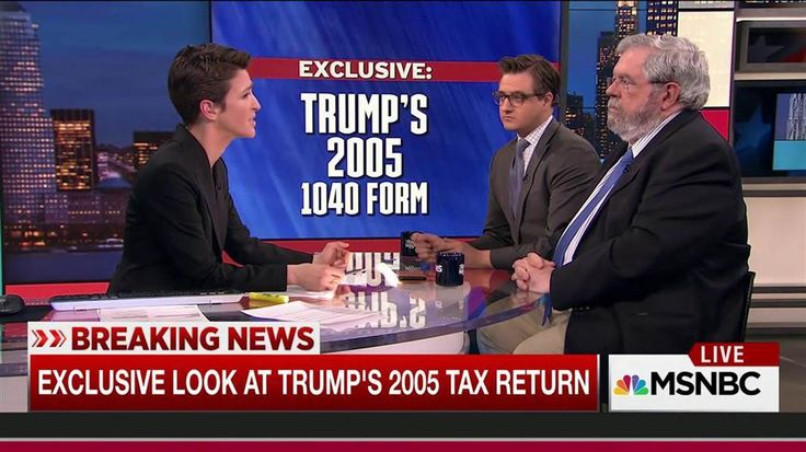 MSNBC's Rachel Maddow, Chris Hayes and DCReport's David Cay Johnston discuss what we have learned from Donald Trump's 2005 1040 tax pages.