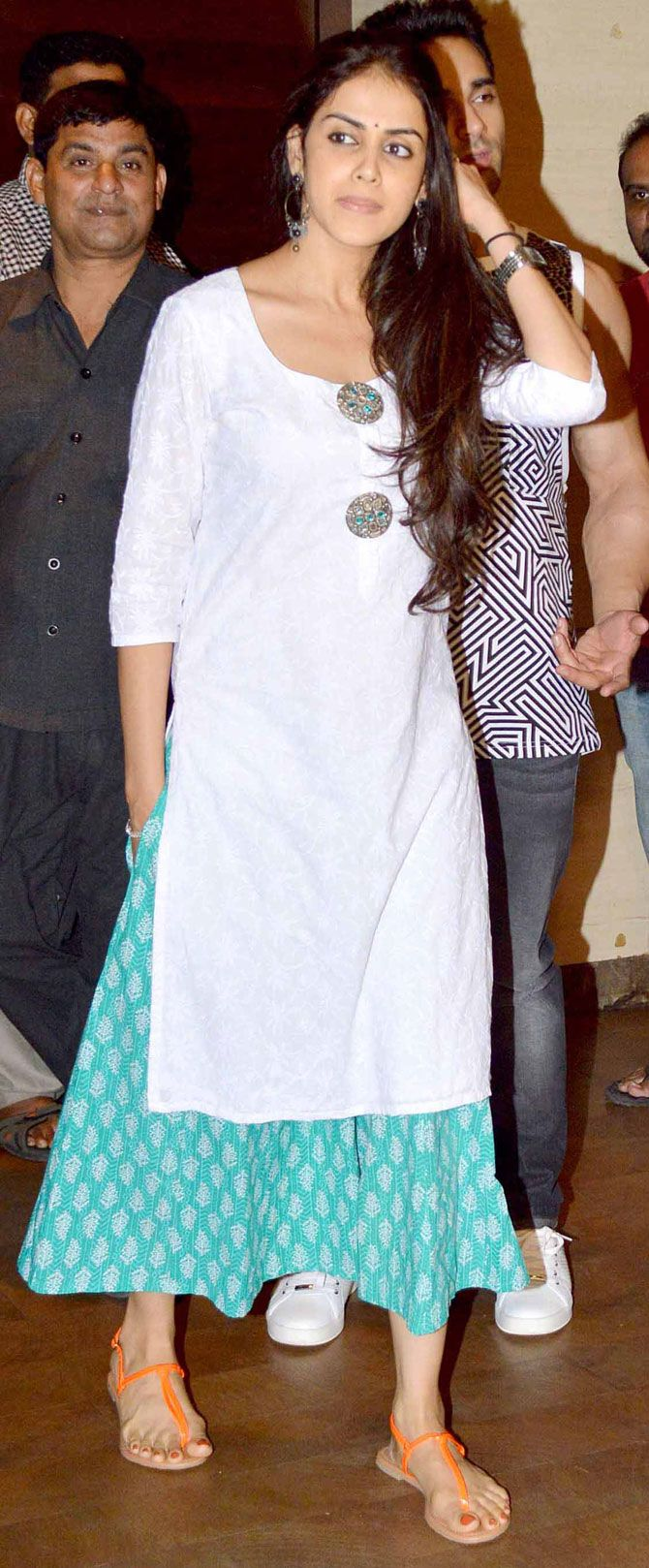 Genelia D'Souza at a special screening of #Bangistan. #Bollywood #Fashion #Style #Beauty #Desi