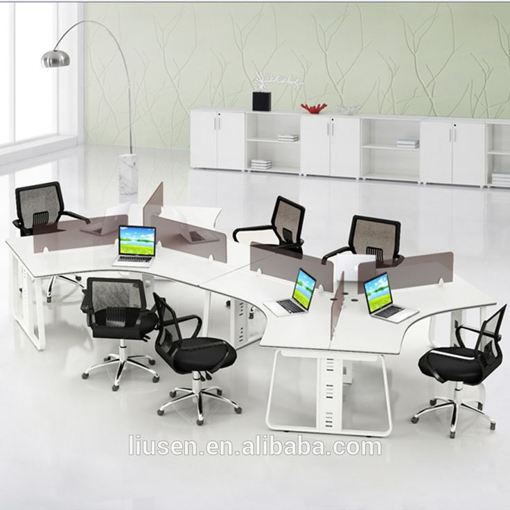 Superior Quality Modular 6 People S Shape Office Desk